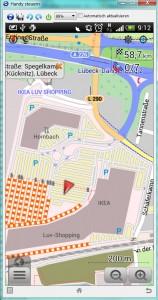 IKEA-Gelände auf OsmAnd